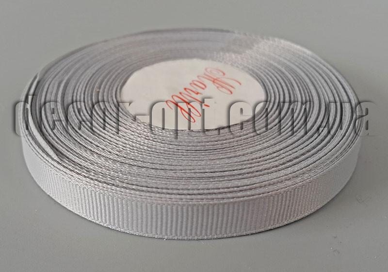 Лента репсовая серая 0,9см/25ярд арт. 200