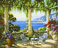 """Картина по номерам """"Средиземноморская терраса """" 40*50см,крас.-акрил"""