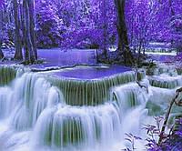 """Картина по номерам """"Фиолетовый водопад"""" 40*50см,крас.-акрил,кисть-3шт."""