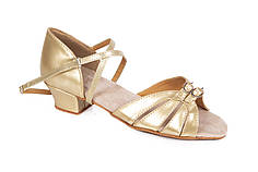 Туфли для бальных танцев золотые Rivage Line S100 D