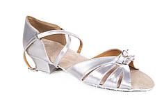 Туфли для бальных танцев детские серебро Rivage Line S100 D