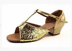 Туфли для бальных танцев золото Rivage Line 600105