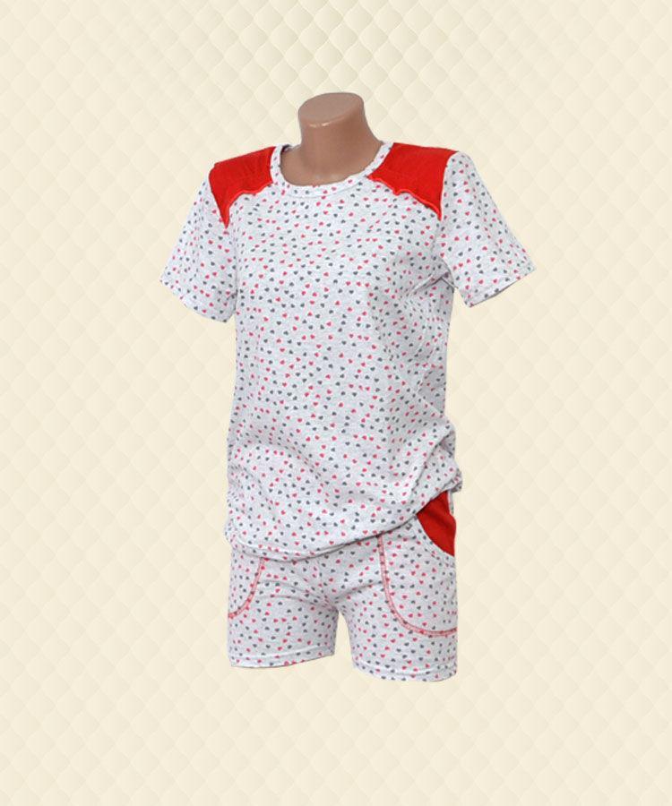 Пижама женская футболка + шорты кулир