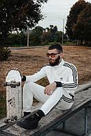 Спортивный костюм Adidas в стиле Адидас, хлопок, код DD-5. Белый