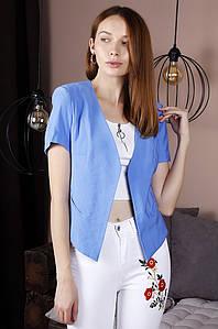 Жакет женский голубой TRG 122132P