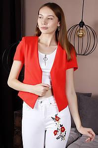 Жакет женский красный TRG 122138P