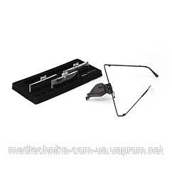 Очки со сменными стеклами Magnifier 19157-3 с LED-подсветкой 1.5X 2.5X 3.5X увеличения