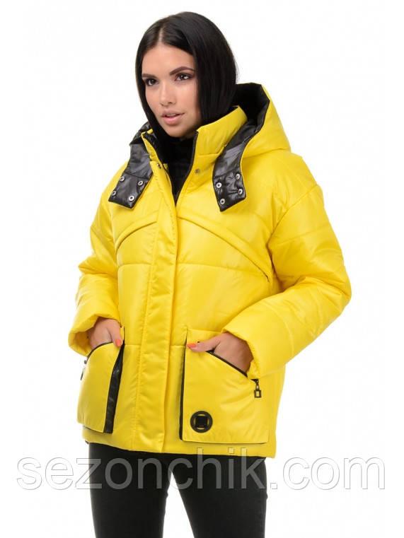 Стильные женские куртки с капюшоном демисезонные размеры 42-48