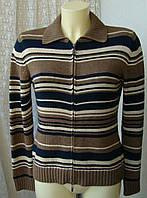 Кофта женская теплая хлопок капюшон бренд Olsen р.42 3950а