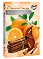 """Свечи ароматизированные чайные """" Корица с апельсином """""""