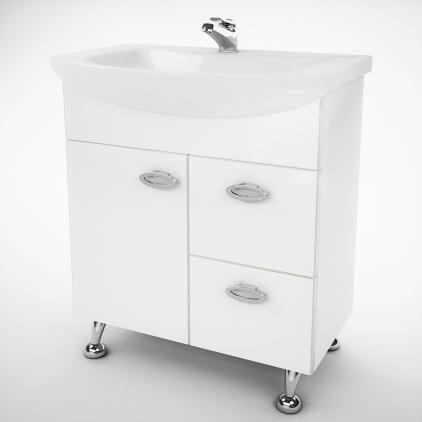 Тумба под раковину для ванной комнаты Жемчуг Жт 3-60 с умывальником Libra 60  ВанЛанд