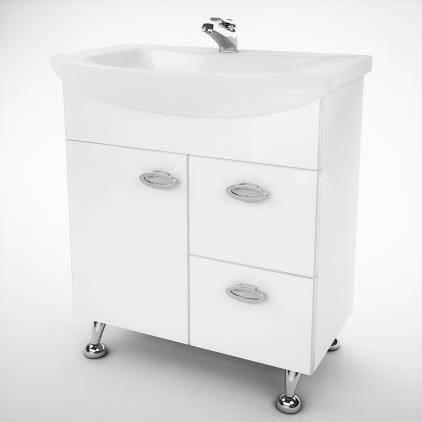 Тумба под раковину для ванной комнаты Жемчуг Жт 3-60 с умывальником Libra 60  ВанЛанд, фото 2