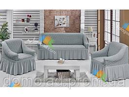 Чехлы на Диван и 2 Кресла с Оборкой Модель 216