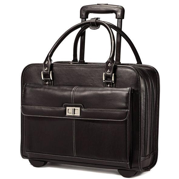 bf782a4148b7 Деловая женская сумка на колесах Samsonite «Мобильный офис» -  Интернет-магазин «Рюкзак