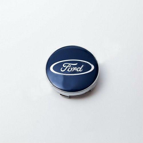 Ковпачок для диска Ford сині / хром лого (60 мм)