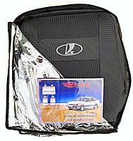 Автомобильные чехлы ВАЗ 21099/2115 Авточехлы на сидения Lada Samara 21099/2115 Лада Самара Nika темно серый