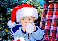 Новогодняя Шапка Детская Деда Мороза Колпак Санта Клауса Santa Claus, фото 1