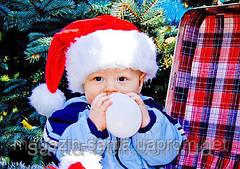 Новорічна Шапка Дитяча Діда Мороза Ковпак Санта Клауса Santa Claus