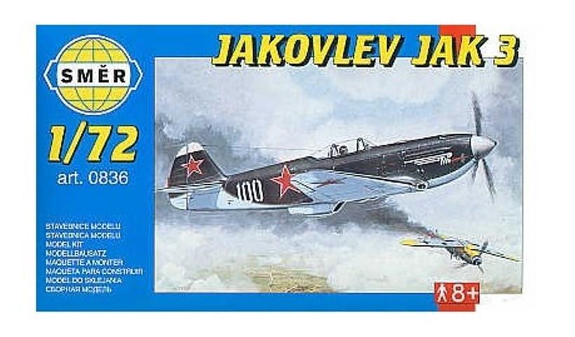 Яковлев Як-3. Модель-копия самолета для сборки в масштабе 1/72. SMER 0836