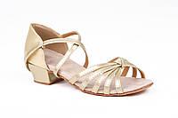 Туфли детские для бальных танцев золото Rivage Line А 7100-2