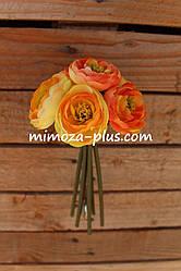Искусственные цветы - Камелия пучок, 19 см