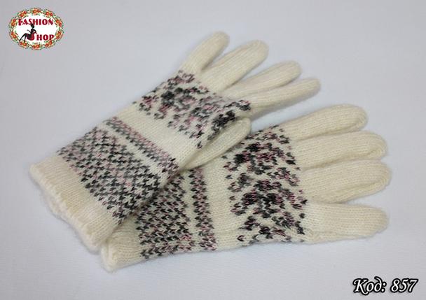 Женские шерстяные перчатки Фиола, фото 2