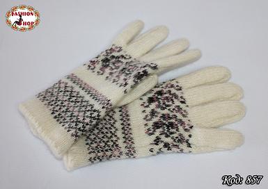 Женские шерстяные перчатки Фиола