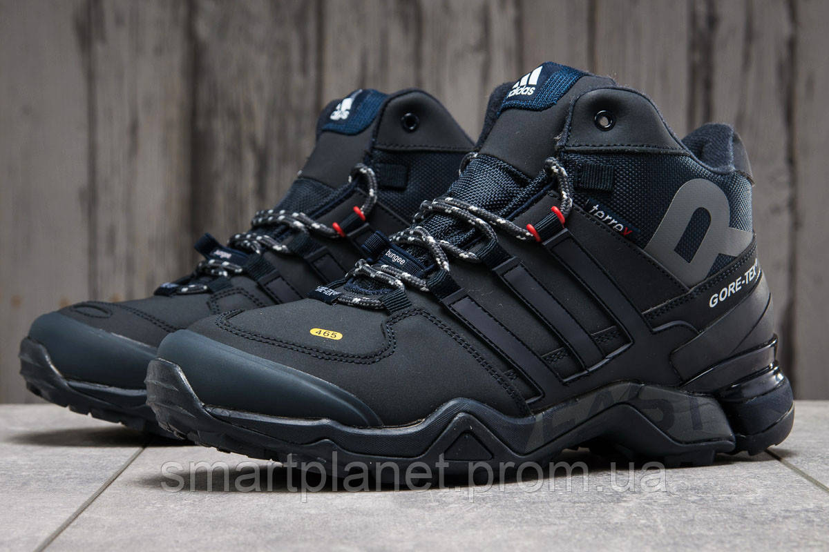 Зимние мужские кроссовки 31211, Adidas 465, темно-синие, < 42 43 44 45 46 > р. 42-27,0см.