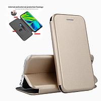 Чехол-книжка Level для Huawei P40 Lite E Gold (хуавей п40 лайт е)