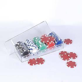 Набор для покера: 100 фишек в пластиковом кейсе Duke 100-S5
