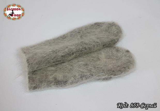 Женские серые пуховые варежки Вайлет, фото 2