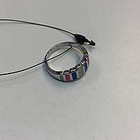 Оригинальное кольцо с огненным опалом в серебре 17 размер. Кольцо огненный опал в кредит 0%