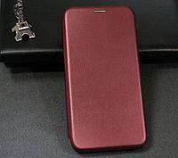 Чехол-книжка Level для Huawei P40 Lite E Marsala (хуавей п40 лайт е)