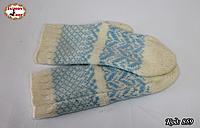 Женские шерстяные варежки Морозные узоры