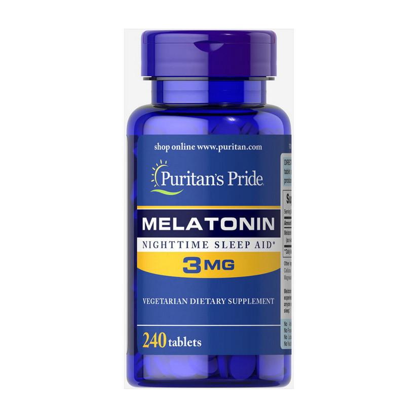 Мелатонин Puritan's Pride Melatonin 3 mg (240 табл) пуританс прайд