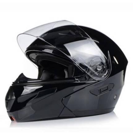 Чёрный  Мото шлем оригинал Европа закрытый Naxa(Польша) сертифицирован Ecer, фото 2