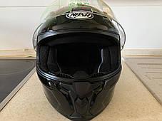 Чёрный  Мото шлем оригинал Европа закрытый Naxa(Польша) сертифицирован Ecer, фото 3