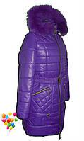 Зимние куртки на холлофайбере для девочек, фото 1