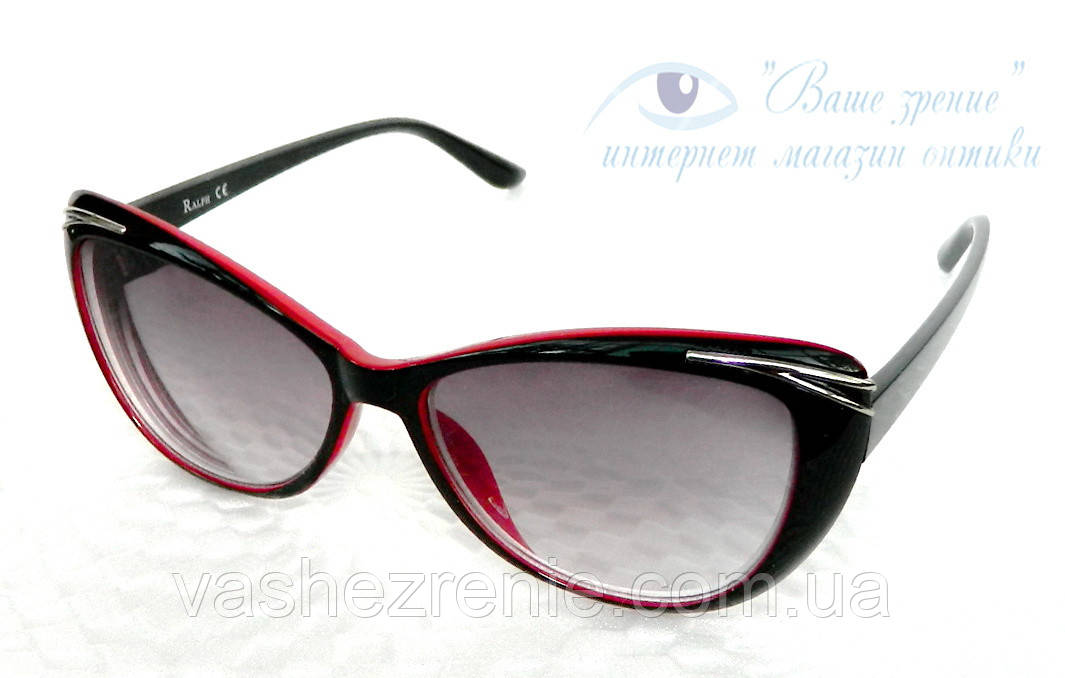 Окуляри жіночі для зору, з діоптріями +/-, сонцезахисні. Код:1095