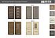 """Двері міжкімнатні Новий стиль """"Прованс"""" Мілла А 60,70,80,90, глуха Горіх Сибірський, фото 2"""