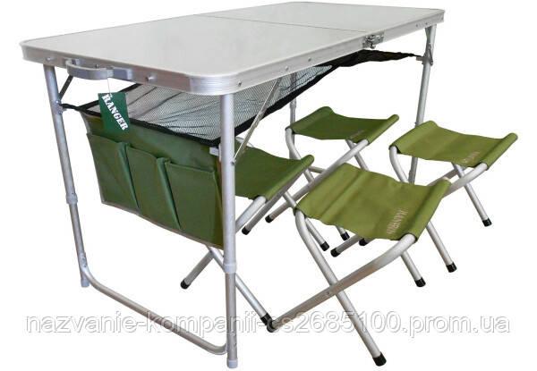 Стол складной + 4 стула Ranger