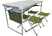 Стол складной + 4 стула Ranger, фото 1