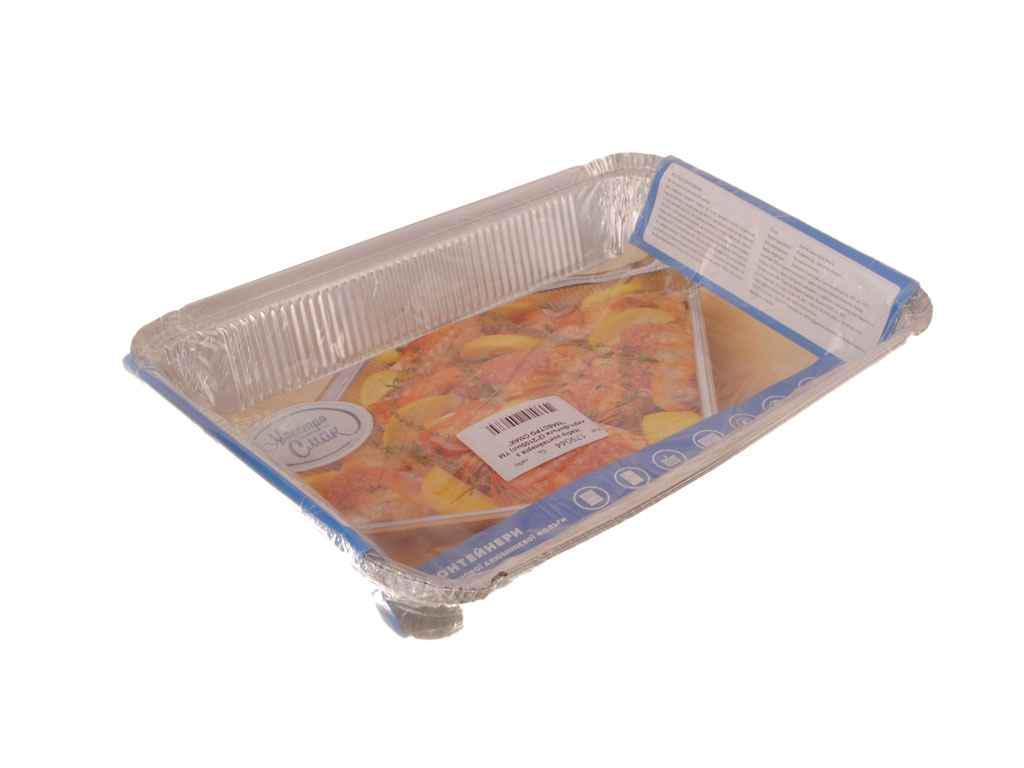 Набор контейнеров из пищевой фольги Мастер Смак 2100 мл упаковка 2 шт