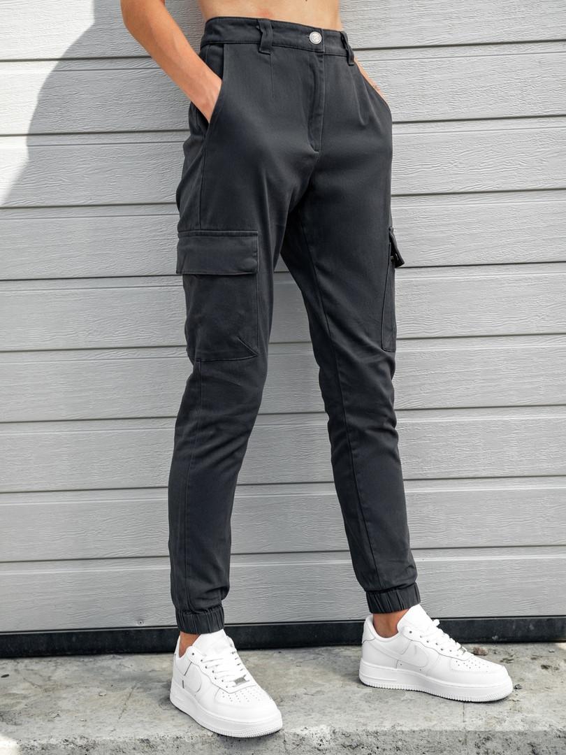 Женские карго брюки BEZET Eva gray '20, женские серые карго брюки
