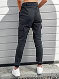 Женские карго брюки BEZET Eva gray '20, женские серые карго брюки, фото 3