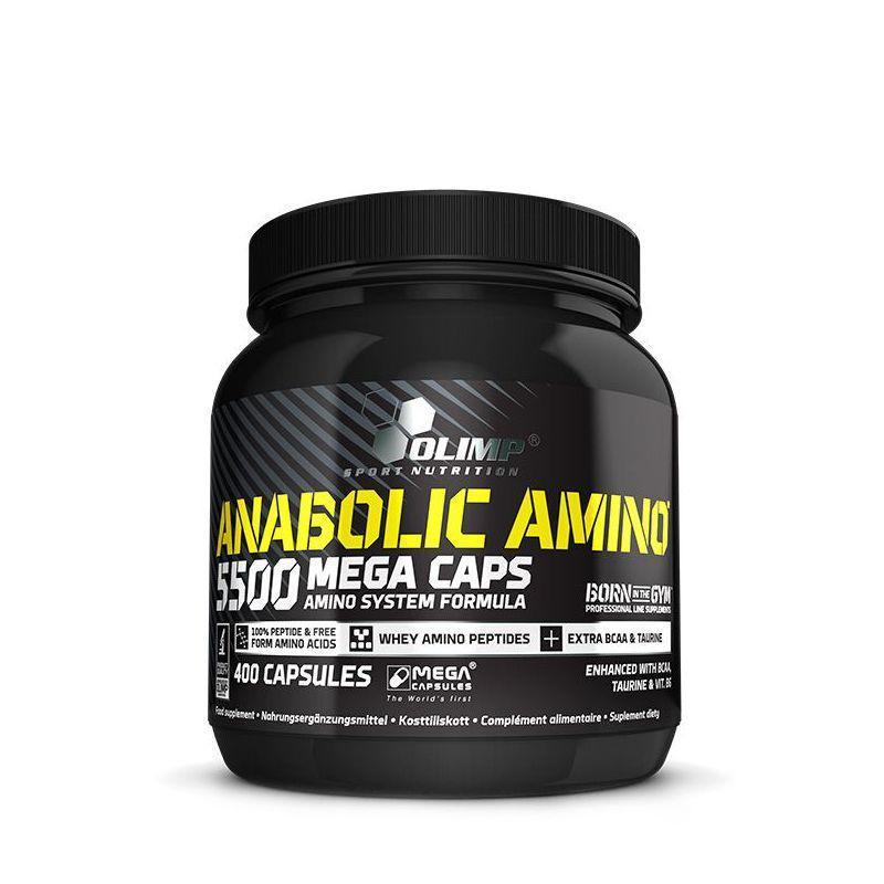 Комплекс амінокислот Olimp Anabolic Amino 5500 (400 кап) олімп анаболічні стероїди аміно