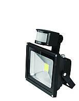 Светодиодный прожектор с датчиком движения EUROELECTRIC LED-FL-10 (sensor) 10W 6500K