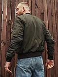 Мужской осенний бомбер BEZET Joker khaki'20, мужской бомбер хаки, фото 5