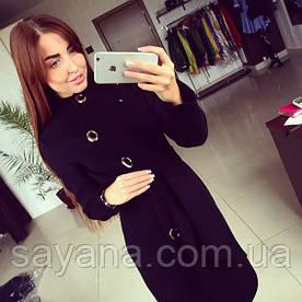 """Женское утепленное пальто """"Волна"""" без меха Т-12-0919"""