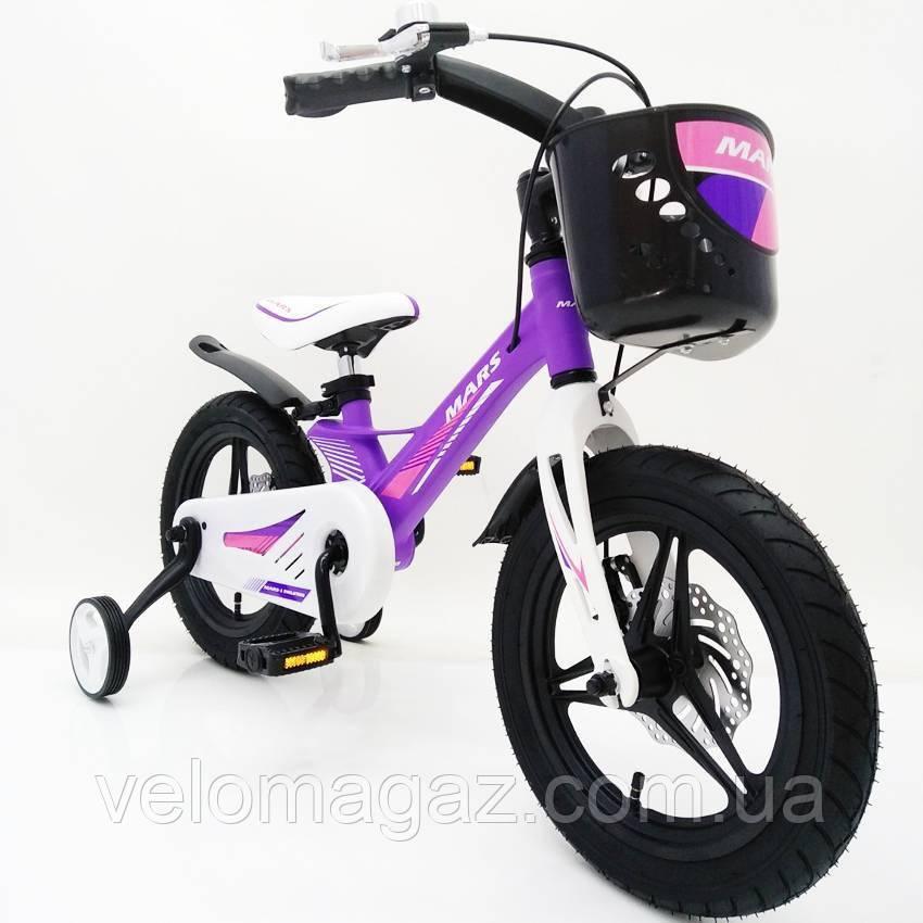 """Дитячий велосипед SIGMA MARS-2 Evolution -14"""", дисковий гальмо, кошик, годинник"""